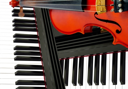 Classic instument concept , Violin and piano photo