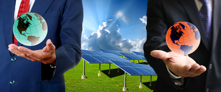 Solar cell business concept photo