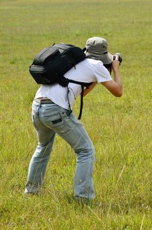Photographer take a nature photography photo