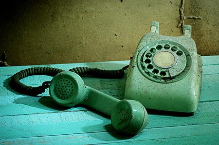 retro telephone: Retro telephone, Still life Stock Photo