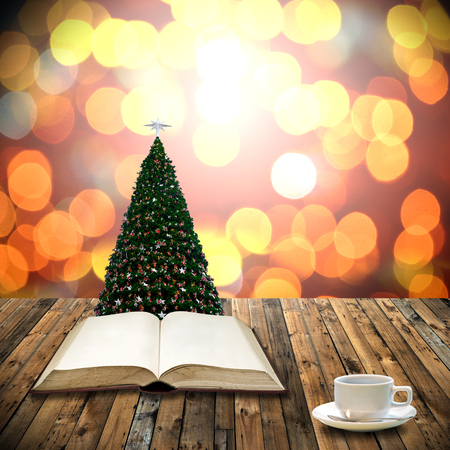Read bible in christmas day photo