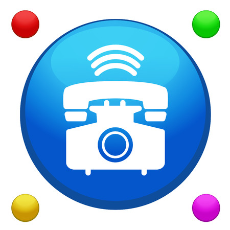 Phone icon button vector with 4 color background included  Vector