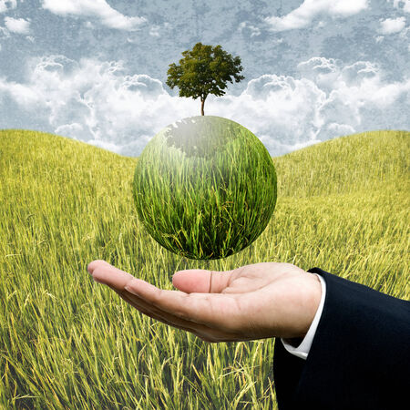 Sustainable agriculture business concept photo