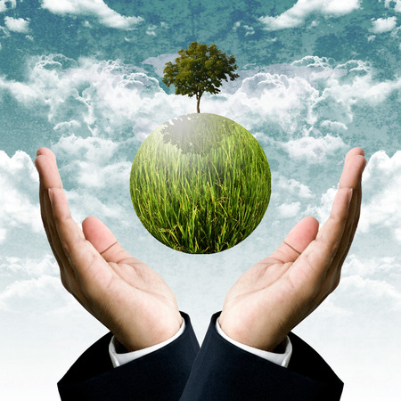 Sustainable business for protect the earth concept photo