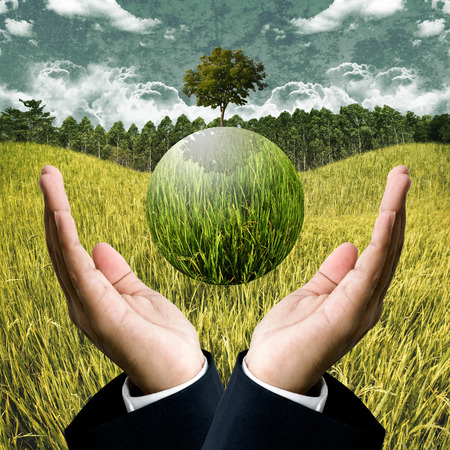 Sustainable agriculture business for save the earth concept photo