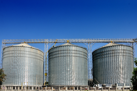 Agricultural Silo - Building Exterior, Storage and drying of grains, wheat, corn, soy, sunflower  photo