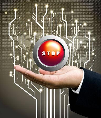 analyzer: Stop button concept, Analyzer offer the stop button