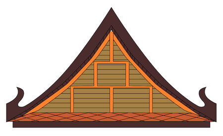 Thai house gable Vector