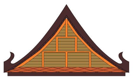 Thaise huis gevel Stock Illustratie