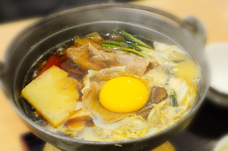 Sukiyaki in Japanese style photo