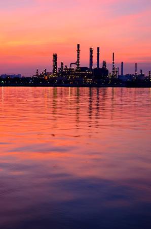 Sunrise scene of Oil refinery, Bangkok, Thailand