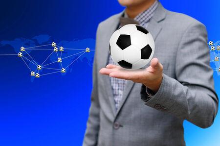 businees: Football network, Sport network concept