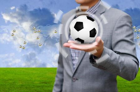businees: Football network concept