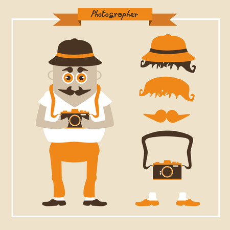 Hip photographer cartoon  Vector