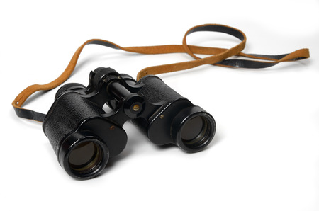 Binoculars isolated on white background photo