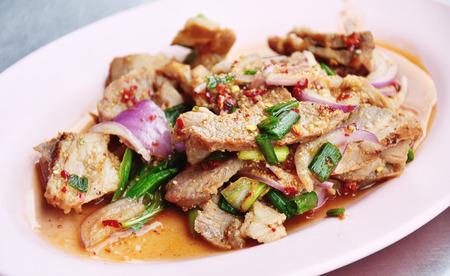 carne asada: Spicy rodajas ensalada de carne a la parrilla