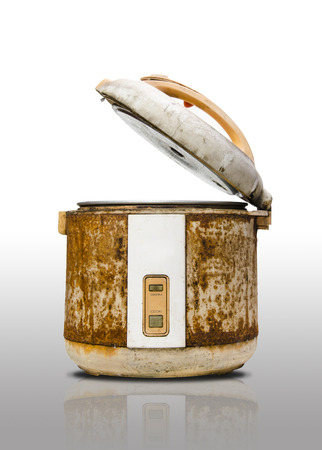 Old rice Cooker in grunge condition photo