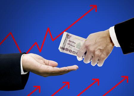 ブローカー、投資コンセプトにお金を与える