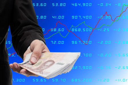 Make money from stock exchange concept photo
