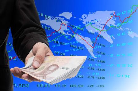 Make money from global stock exchange photo