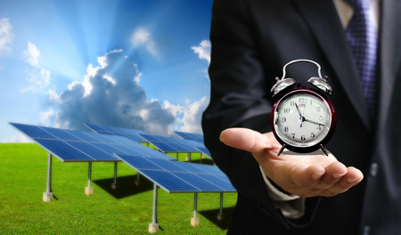 energy use: Time to use solar energy, Clean energy technology concept