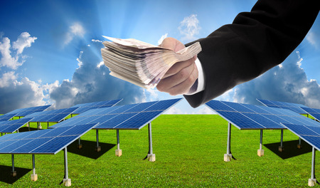 pay for: Investor pay for build solar farm