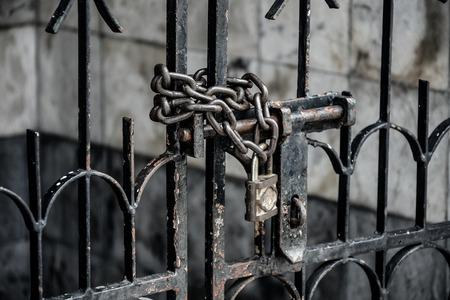 jail: Locked door Jail concept Stock Photo