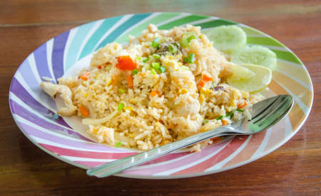 thai style: Fried rice in Thai style Thai cuisine Stock Photo