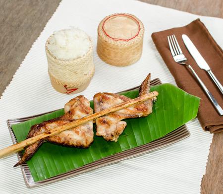 roasting: Roasting chicken with sticky rice, Thai food menu