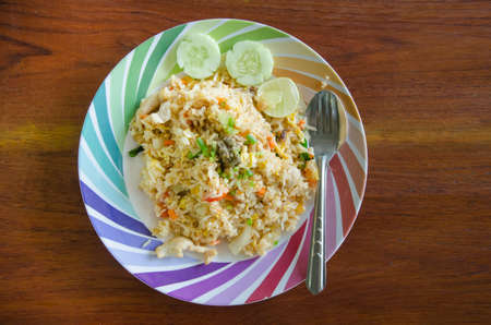 nice food: Fried rice in Thai style, Thai cuisine