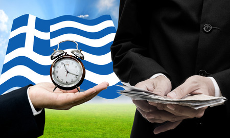 show time: Creditor show time limit to pay dept, Financial Crisis in Greece concept