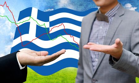 creditors: Creditors ask for pay dept, Financial Crisis in Greece concept Stock Photo