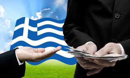creditors: Creditor offer more loan, Greeces Debt Crisis concept