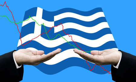 risky business: Creditors ask for pay dept, Financial Crisis in Greece concept Stock Photo