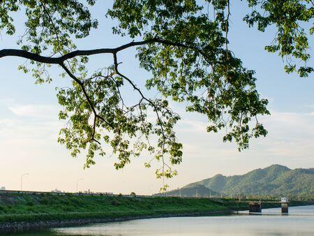 chonburi: Nice landscape at reservoir, Chonburi, Thailand Stock Photo