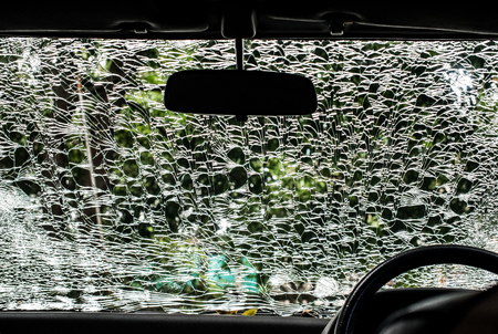 fatality: Damaged glass pattern background, Car front glass damaged