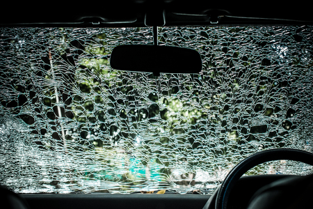 chap: Damaged glass pattern background, Car front glass damaged
