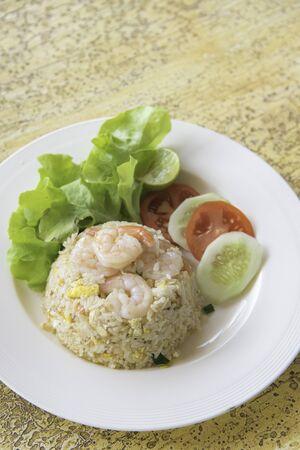 thai food: Fried rice with shrimp menu, Thai food Stock Photo