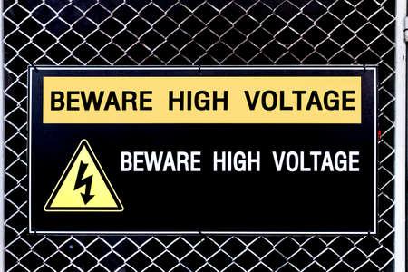 high voltage sign: Beware high voltage sign, safety concept