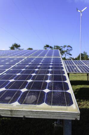 solar farm: Solar cell panel in solar farm close up in Thailand