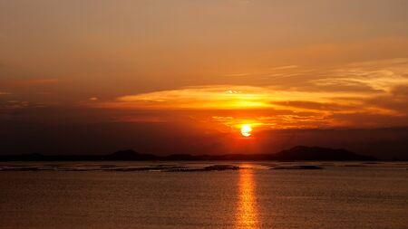 chonburi: Sunset sky at Si Chang island, Sriracha, Chonburi Thailand