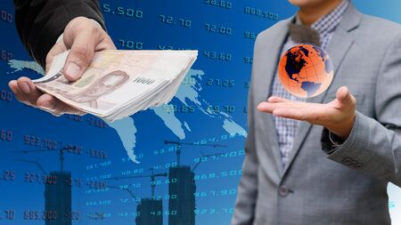 global economy: Global economy concept, Investor get money from global market