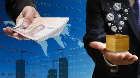 e banking: Bubble economy concept Stock Photo