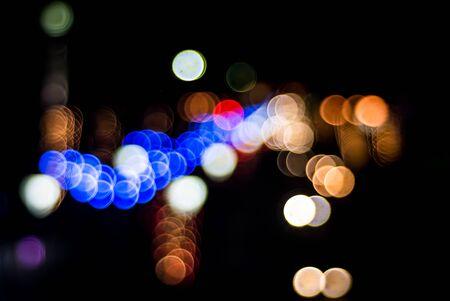 defocus: Colorful LED light bokeh defocus background