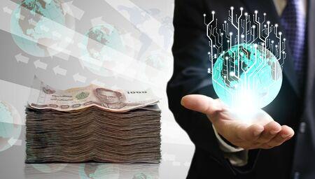 ecomerce: Financial technology concept