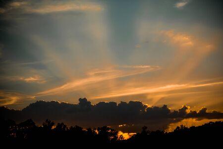 sun ray: Nice sun ray at sunset time Stock Photo