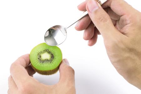kiwi fruta: kiwi jugoso listo para comer