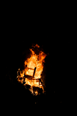 Nice fire at night, Abstract fire background