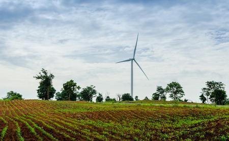 Wind turbine at hill, Thailand