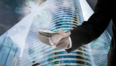 Make money from investment in metropolis concept